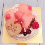 夜のケーキ